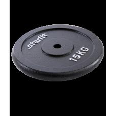 Купить Блин для штанги и гантели  металлический BB-204 15 кг d=26мм
