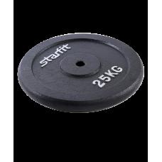Купить Блин для штанги и гантели  металлический BB-204 25 кг d=26мм