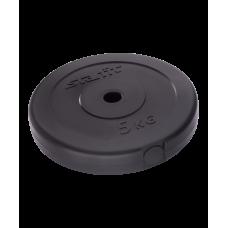 Купить Блин для штанги и гантели пластиковый BB-203, d=26 мм, 5 кг